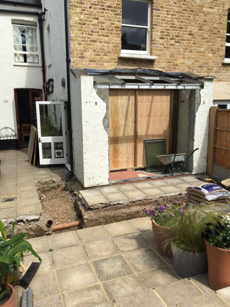 Rear Extension for House in West Norwood London SE27_Before